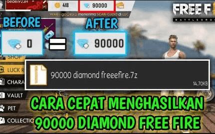 Script 90000 Diamond Free Fire 7z Cara Pasang Script