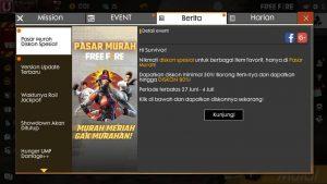 event pasar murah free fire terbaru