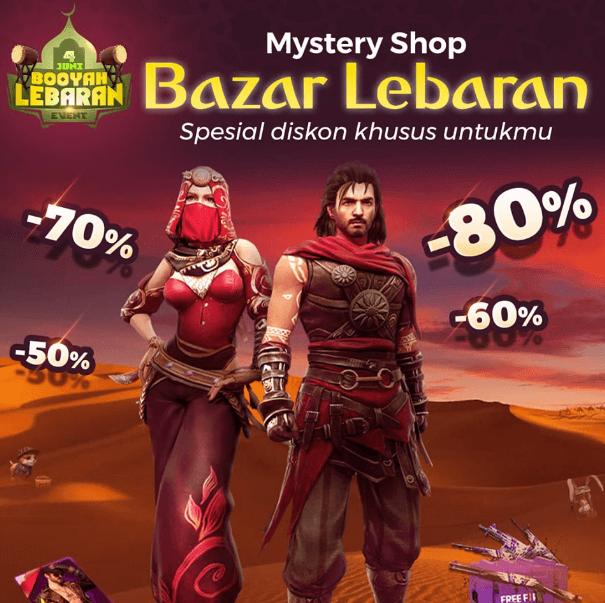 mystery shop free fire bazar lebaran diskon 80%