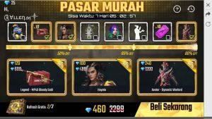 pasar murah free fire terbaru