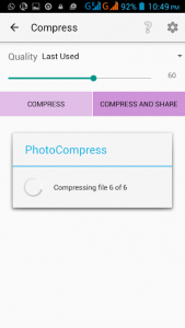 cara compress foto di hp android