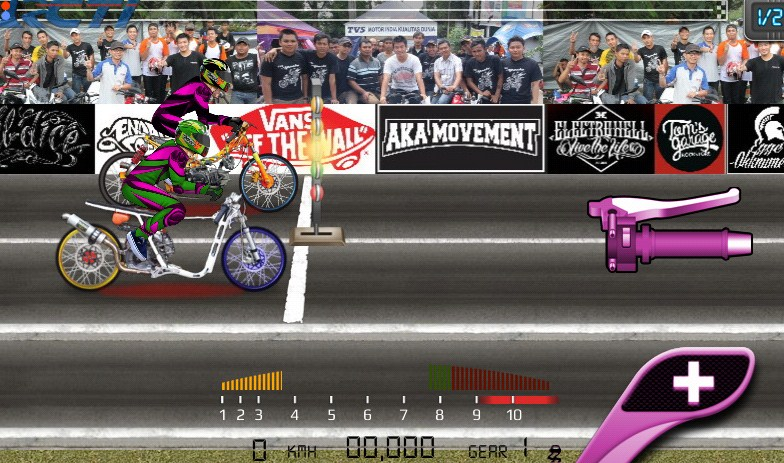 Game Drag Bike 201m Indonesia Mod APK